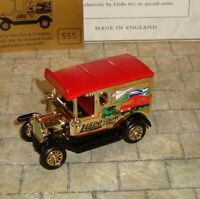 LLEDO -PROMO- 1920 MODEL T FORD VAN - RARE METALLIC GOLD DUXFORD 1997 SHOW MODEL