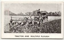1930s Farm Tractor Caterpillar With Multiple Ploughs 1930sTrade Ad Card