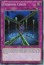 YU-GI-OH CARD: FIENDISH CHAIN - SR03-EN036 - 1ST EDITION