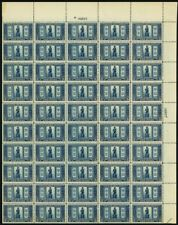 619, Vf/Xf Mint Nh Top Pl# Sheet of 50 5¢ Stamps Brookman $2750. - Stuart Katz