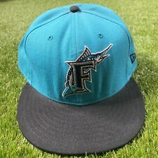 New Era MLB Florida Marlins 59Fifty Size 8 Vintage Teal