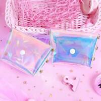 Girl's Laser Sweety small Purse Women Holographic Transparent Coin Wallet  Jelly