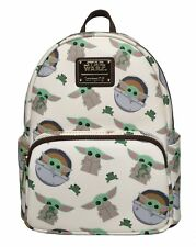 Loungefly Star Wars Mandalorian The Child Baby Yoda AOP Mini Backpack IN STOCK!
