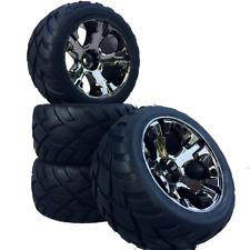 Truggy Reifen Felgenset REVIL Street mit 5-Lochfelge titanium 1:10 4 Stück partC