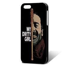 """Negan & Lucille, The Walking Dead Phone Case, Fits iPhone - """"My Dirty Girl"""""""