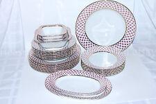 Russian Imperial Lomonosov Porcelain Table Service Net Blues Russia 22k Gold