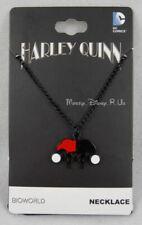 Neuf Original Dc Comics Batman Harley Quinn Pendentif Noir Collier à Chaîne