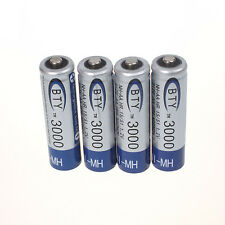 4 PCS BTY Ni-MH 1.2V 3000mAh AA Rechargeable Battery
