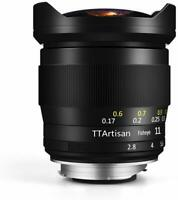 TTArtisans Fisheye 11mm F2.8 Full Fame Lens Sony E mount  A72 A7R2 A73 A74 A7R4