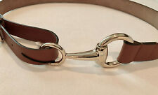 GUCCI Horsebit Belt Women's Sz Small NEW Brown Leather Style 295338