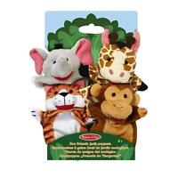 Melissa & Doug Kids Zoo Friends Soft Plush Hand Puppets - Set of 4