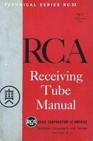 RCA RECEIVING TUBE MANUAL RC-23 1964 PDF