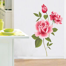 DIY Art Decoration Red Rose Flower Wall Stickers Removable Decal Home Decor New