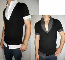 Brave Soul Patternless Fitted Casual Shirts & Tops for Men