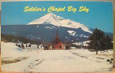 Montana Postcard SOLDIER'S CHAPEL Lone Mountain Big Sky Bozeman Gallatin River