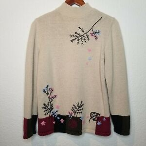 1980s Gitano Knit Color Block Pastel Marbled Over-sized Sweater