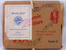 Vintage 1955 Song Dance Teaching Activity Cards Rhythmic Series 2 Stuart Ludlam