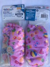 Swim School Girls Reusable Swim Diaper (2 pack) 6 mo 10-18 lb size New UPF50