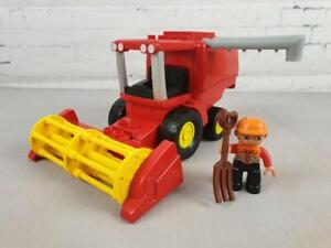 Rare Lego Duplo Red Combine Harvester Farm Set Legoville Figure