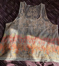Women's Lace Vest Cami Top Size22