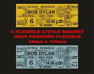 Bob Dylan Syria Mosque tickets 2 IMANES 2 MAGNETS
