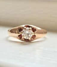 14k Yellow Gold Diamond Solitaire Ring .20 TCW Petite/Pinky F-G, VS2 NATURAL