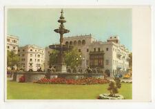 Fuente Plaza De Armas Lima Peru Vintage Postcard US012