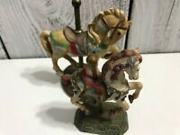 lot 2 CAROUSEL HORSE COLLECTIONS Metal Good Used Condition 3'