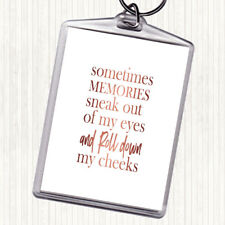 Rose Gold Memories Sneak Out Quote Bag Tag Keychain Keyring