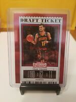 2019-20 Panini Contenders Draft Picks Variations Blue Foil Draft #49 Trae Young