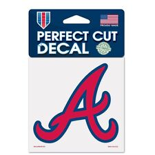 "Atlanta Braves Perfect Cut 4""x4"" Car Decal [NEW] Auto Sticker Emblem Cling MLB"