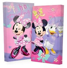 2pc MINNIE MOUSE CANVAS WALL ART Glow in the Dark Picture Bed Bedding Room Set