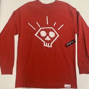 Diamond Supply Co. Long Sleeve T Shirt Size Medium Skate Tee Red **BRAND NEW**