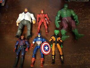 Marvel Legends Face Off Hulk  Leader Captain Red Skull Daredevil Kingpin Lot