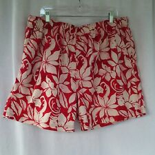 Op mens swim trunks surf board shorts Size XL 40 42 Red orange white Hawaiian