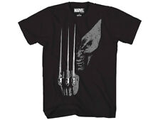 Marvel Wolverine Fist Claws Black XL Crew Neck T-Shirt