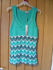M & S Per Una Blue Mix knitted Top Size 10 NEW RRP £29.50 (Ref P)