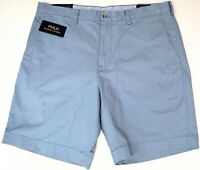 "NEW $79 Polo Ralph Lauren Stretch Classic Fit 9"" Casual Shorts Mens Blue NWT"