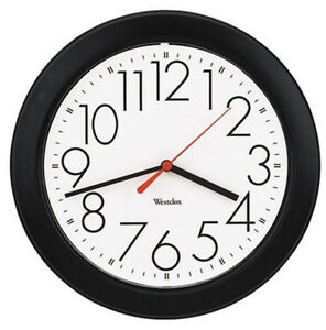 "Westclox Basic 10"" Black Case Wall Clock White Dial 461861"