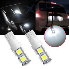 2x 9-SMD Wedge Bright White T10 168 194 LED Interior Map Dome Trunk Light Bulbs