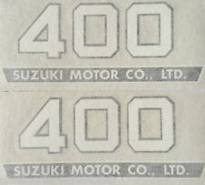 SUZUKI TS400 SIDE PANEL DECALS