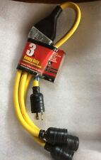 L5 to L5 3 way plus adaptor 3 foot industrial extension