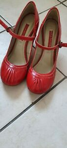Womens Red Vintage Style Shoes Size 7 NEXT Rockabilly  Rock N Roll high heels