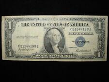 One Dollar Silver Certificate US $1.00 bill. Blue seal. Series 1935F