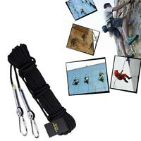 Outdoor Static Climbing Rope +2Pcs 10mm Carabiner 3Pcs /Set A5P7