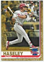 2019 Topps Update Adam Haseley Gold Rookie Card RC #d/2019 Philadelphia Phillies