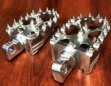 1Pair Silver Rotating Footpegs Custom Foot Pegs For Harley Dyna Sportster XL