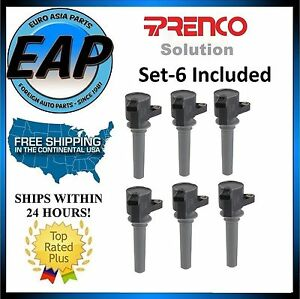 For Ford Mazda Mercury 3.0L V6 Direct Spark Plug Ignition Coil SET NEW