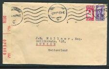 Afrique du Sud - Enveloppe de Johannesburg pour la Suisse avec contrôle postal