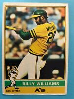1976 Topps Baseball Card #525 Billy Williams Oakland Athletics HOF